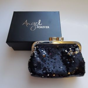 Victoria's Secret Mini Black Sequin Clutch